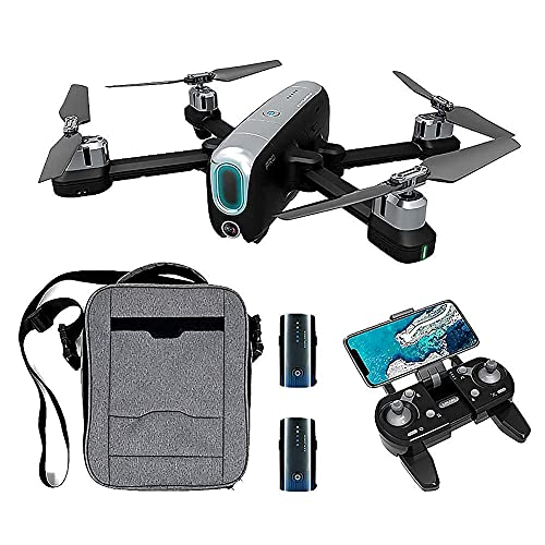 Drone GPS con cámara 4K HD para Adultos, 5G WiFi 1Km Video en Vivo Drone Plegable, GPS Return Home, Sígueme, Quadcopter con cámara Gran Angular Ajustable, Drone Quadcopter para Principiantes