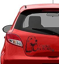 Cocker huisdieren auto bumper - auto stickers - stickers voor auto's - zwart vinyl/beste stickers