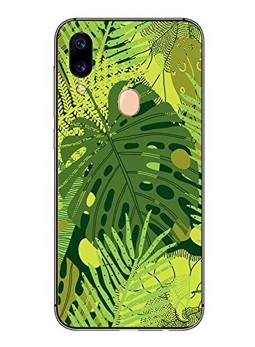 Oihxse Transparente Silicona Case Compatible con Xiaomi Mi 6X/Xiaomi Mi A2 Funda Suave TPU Protección Carcasa Moda Dibujos Animados Divertida Diseño Ultra-Delgado Cubierta-Hojas