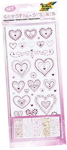 folia 1430 - Crystal Sticker Sommer - hochwertige Sticker mit gepunkteten Glittermotiven