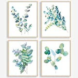 YASEN Plant Green Leaf Canvas Prints Wall Art Posters, Unframed Wall Art Prints 8x10, Botanical Prints Wall Decor Canvas Quotes for Bedroom