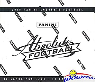 2018 Panini Absolute NFL Football MASSIVE Factory Sealed JUMBO FAT PACK Box with 240 Cards! Look for Rookies & Autographs's of Baker Mayfield, Sam Darnold, Saquon Barkley & More! WOWZZER!