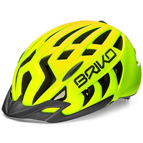 Briko Ariete Sport Casco da Ciclismo, Unisex Adulto, Unisex Adulto, 2001ZG0, Giallo, L