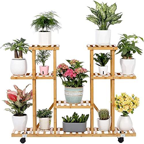 Stand stand stand stand stand para el hogar al aire libre al aire libre patio jardín balcón balcón grande flor soporte maceta maceta, 4 capas de interiores y al aire libre plantas de ralladura de mace