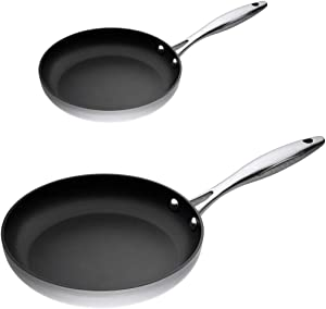 ScanPan CTX Stainless Steel-Aluminum 8 and 10.25 Inch 2-Piece Fry Pan Set
