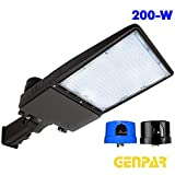 GENPAR 200W Shoebox LED Parking Lot Light 30000lm lumens Slip Fit Mount Outdoor Lighting Dusk to Dawn Photocell Pole Flood 5700K 700W Equivalent Commercial Street Area Lighting Stadium 5 Years