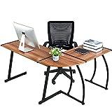 Coavas L-förmig Arbeitstisch Schreibtisch Computertisch Holz Eckschreibtisch Computerarbeitsplatz...