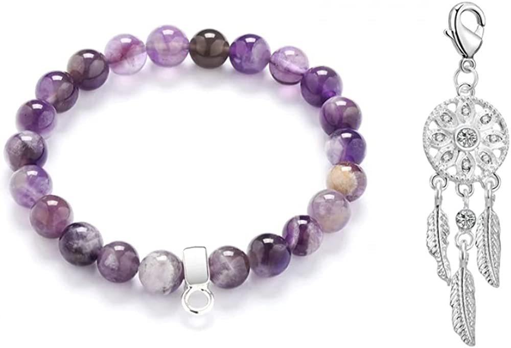 Philip In stock Jones Dream Catcher Amethyst Gemstone Max 59% OFF Bracelet Charm