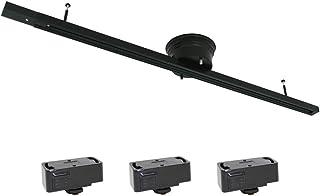 長澤照明 配線ダクトレール ダクトレール 1m ライティングレール ライティングバー 天井照明 照明器具 簡易取付 シーリング用 ペンダントライト スポットライト 引掛シーリング3個付き