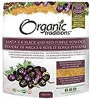 Organic Traditions Organic Gelatinized Raw 6:1 Maca X-6 Powder, Black and Red-Purple, 5.3 Ounce