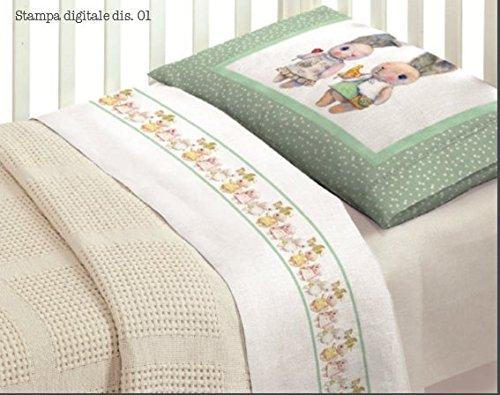 Idée cadeau Super offre : Parure de lit complète en impression numérique Lapin Baby onde amis Lit bébé fille
