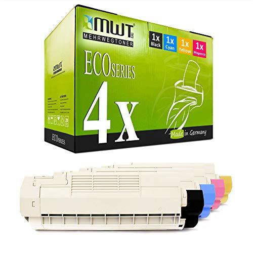 4X Kraft Office Supplies Toner für Oki C 610 DM DN CDN N DTN ersetzt Druckerpatronen Cartridges