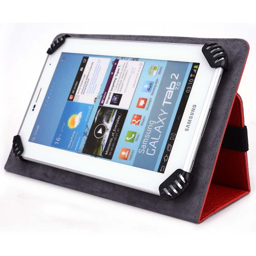 RCA 7 Mercury Tablet Case - Fits Model# RCT6672W23 - UniGrip Edition - RED - by Cush Cases