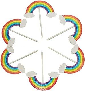 Paper Cupcake Toppers Baking Cake Decoration Crystal Glitter Colorful Rainbow Dessert Cake Birthday Cake Insert Decorative, 30Pcs/Pack