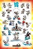 London 2012 - Olympics - Wenlock Sport Poses - Poster