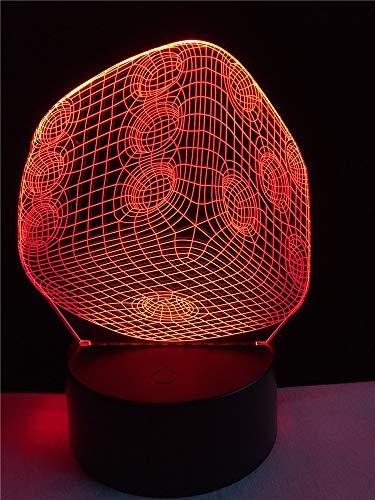 Kjfgkf @ 3D Veilleuse Décor 3D Usb Led Lampe Gadget Room Accessoires Source Optique Acrylique Night Light Rgb Cadeau