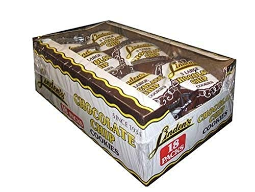 Linden's Chocolate Chip Cookies, 3 Cookies Per Pack 18-1.75 oz. Packs Per Box