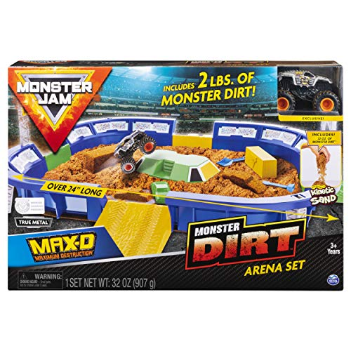 Monster Jam, Monster Dirt Arena 24' Playset with 2lbs of Monster Dirt & Exclusive 1: 64 Scale Die-Cast Truck