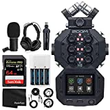 Zoom H8 8-Input / 12-Track Portable Handy Recorder For Podcasting, Music, Field Recording + Zoom ZDM-1 Podcast Mic + Headphones + Windscreen + Tabletop Stand + 64GB Extreme PRO Card - Ultimate Bundle