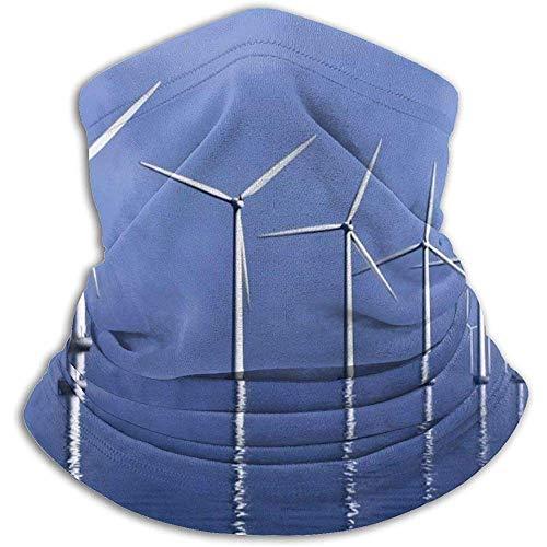 Linger In Blue Sky Sea Windmill Neck Gaiter Face Mask Bandana Seamless Headband Ski Riding Running