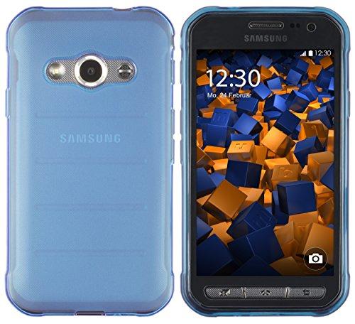 mumbi Hülle kompatibel mit Samsung Galaxy Xcover 3 Handy Case Handyhülle, transparent blau