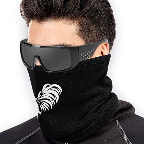 ShiHaiYunBai Braga Cuello Moto Calentador de Cuello Deporte Calentador Pasamontañas Polar Multifuncional Máscara Rooster Silhouette Men Women Face Mask Windproof Neck BandaFor Snowmobile