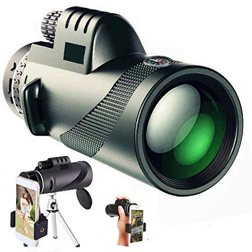 Powerful Monocular Telescope 40X60 for Smartphone with Phone Holder Tripod Fog Waterproof FMC BAK4...