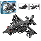 Creator 3 in 1 Helicopter Fighter Jets Warships Adventure Flying Toy Building Kit Present for Boy Girls 177 Pieces Bricks Construction Play Set 6+ CG3009