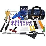 Weylon Herramienta de Juegos Completos Kit de reparación de herramientas de eliminación de equipo de reparación de abolladuras Dent para puerta de Dent Ding daños Card USB Drive Manual