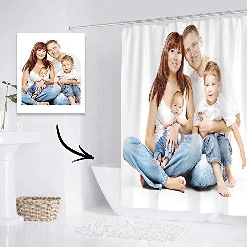 VEELU Cortinas Personalizadas de baño antimoho y Lavables, Cortina Ducha Personalizada con Foto, Cortina Ducha Divertida de Poliéster Impermeable 92 * 183cm