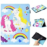 WVYMX Case for All-New Fire HD 8 Full-Body Protective PU Leather Flip Cover with Auto Sleep Wake Stand Cases for All-New Fire HD 8 (8th / 7th / 6th Generation) Animal
