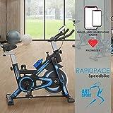 ArtSport Speedbike RapidPace – Ergometer Fahrrad Pulsmesser LCD Display - 10 kg Schwungmasse - bis...
