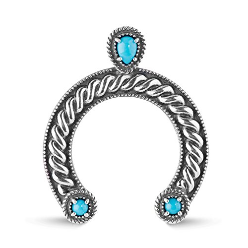 American West - Sterling Silver and Sleeping Beauty Turquoise Naja Pendant - Sleeping Beauty Collection