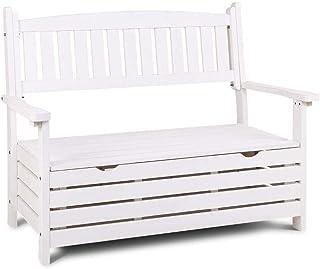 Gardeon Storage Bench Outdoor Chair Deck Box Garden Patio Yard-White