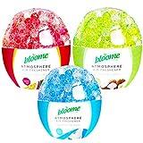 Bloome - Ambientadores redondos de gel (3 unidades, 240 g, perlas de gel fragantes en coco tropical, frambuesa y fruta de la pasión y aromas frescos de algodón que duran hasta 4 semanas)