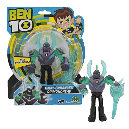 Giochi Preziosi- Ben 10 Omni Enhanced Diamondhead Personaggio Base, Multicolore, 13 cm, BEN39400