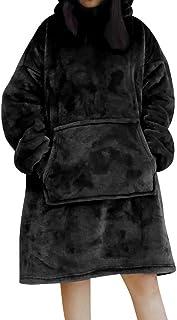 AUSELECT Blanket Sweatshirt, Oversized Hoodie Wearable Blanket, Soft Warm Comfortable Giant Front Pocket for Adults Men Wo...