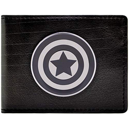 Marvel Captain America Symbol Schwarz Portemonnaie Geldbörse