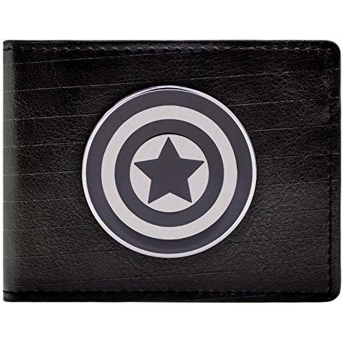 Cartera de Marvel Captain America Símbolo Negro