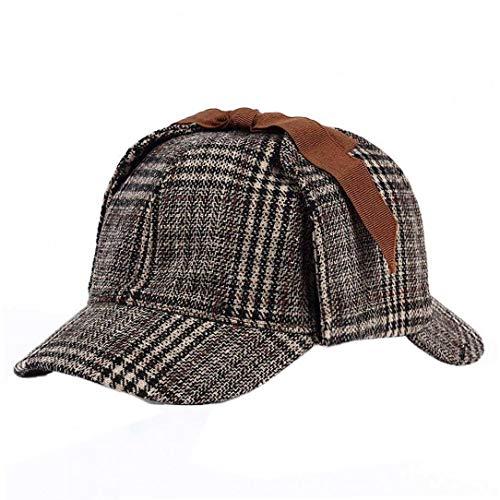 Aisoway Unisex Sherlock Holmes Detective Hat Zwei Brims Beret Deerstalker Cosplay Zubehör
