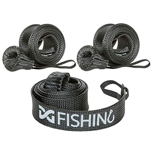 DynoGoods Fishing Rod Sleeve, 3 Pack, 7ft Casting Rod Protector/Rod Sock/Rod Cover (Black)
