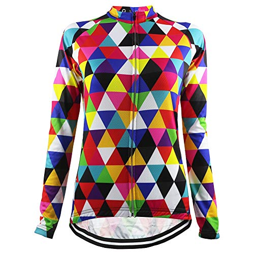 ZWW Colorido Triángulo Ciclismo Maillot Mujeres Ligero