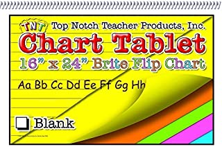 Top Notch Teacher Products TOP3821BN Chart Tablets 24X32 Assorted Ruled Pack of 50 1.2 Height 32 Length 23.5 Wide Grade Kindergarten to 1