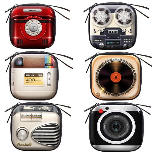 Creativa cartera vintage de estaño, mini bolsa retro con correa para cámara y dibujo de piano, para fiestas, viajes y almacenamiento