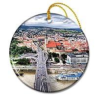 スロバキアブラチスラバクリスマスオーナメントセラミックシート旅行お土産ギフト