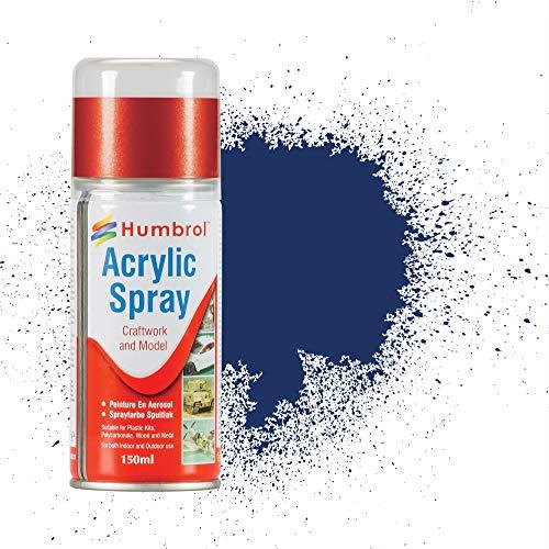 Humbrol- Vernice Spray acrilica, Colore Blu, AD6015