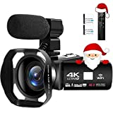 Videocamera 4K Ultra HD 48MP Videocamera Digitale WiFi Videocamere per Youtube Touch Screen 3,0...