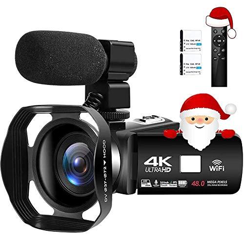 Videocámara 4K Cámara de Video Digital Ultra HD 48MP WiFi