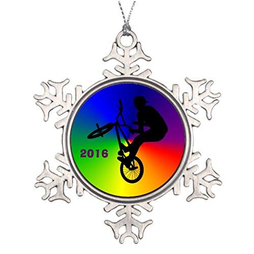 VinMea Schneeflocken-Ornamente Best Friend, Freestyle, BMX, Flatland, Biker, Jahresweihnachten, Schneeflocke, Ornamente