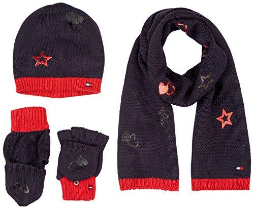 Tommy Hilfiger Herren NEW BORN BOY POPPY GIFTPACK Mütze, Schal & Handschuh-Set, Blau (Tommy Navy 413), One Size